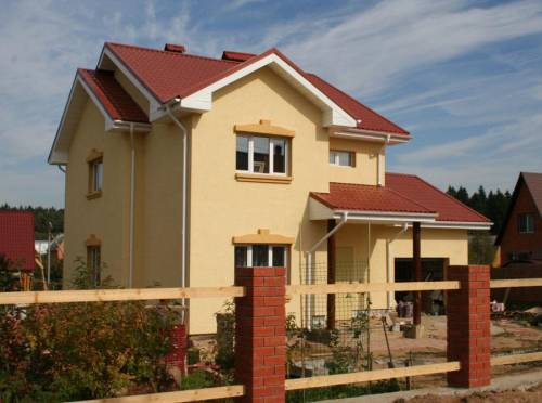 Дизайн фасада загородного дома на