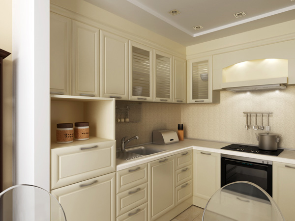Кухня маленькая дизайн потолок фото