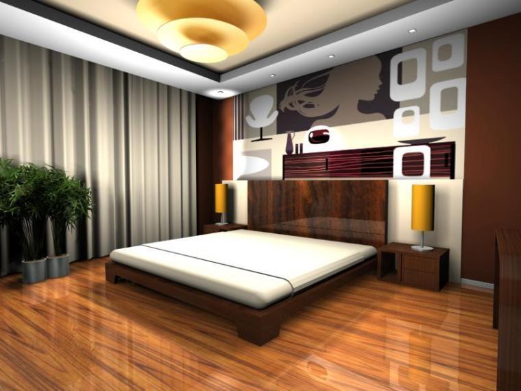 Дизайн спальни комнаты 18 кв.м