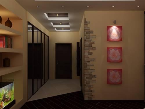 Дизайн коридора с обоями фото