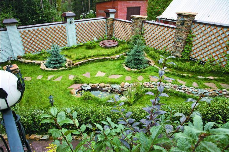 Загородные участки ландшафтный дизайн