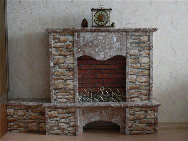 Декоративный камин своими руками с фото