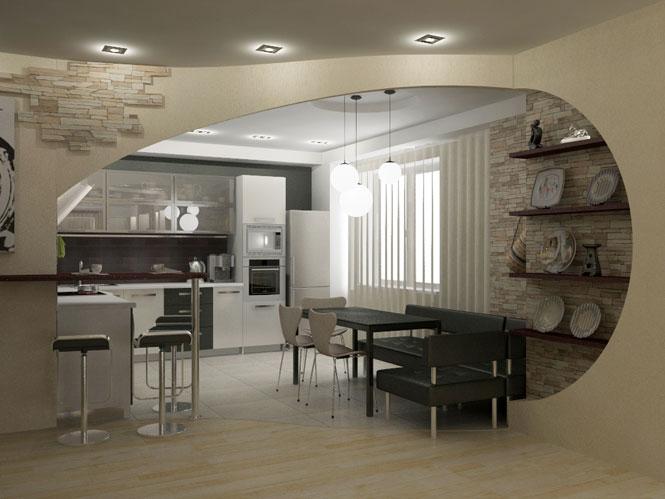 Арка на кухне фото дизайн