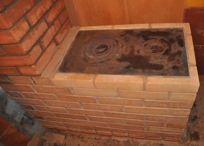 Печь из кирпича с варочной плитой своими руками