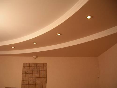 Потолок из гипсокартона делаем сами